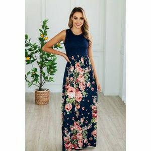 Lilly Posh Sleeveless lace top maxi dress 1X